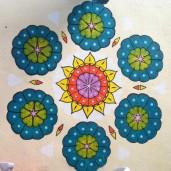 Mandala wall painting.