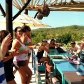 """Lazy afternoon at """"Surf Bar"""" en route back from Punta Mita"""