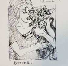 """Prompt: """"Squeeze"""" - what happens when you try to hug a kitten"""