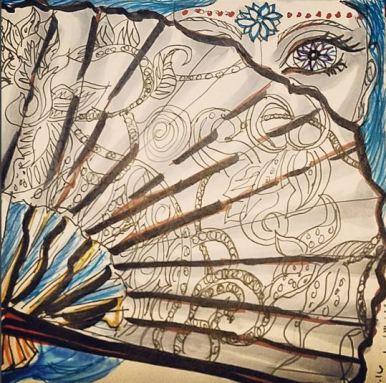 "Prompt: ""Hidden"" - Prismacolor, Micron, Faber Castell Brush pens"