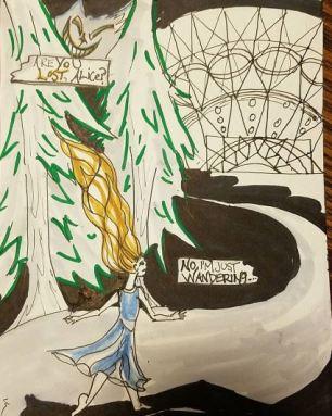 "Prompt: ""Lost"" - Posca marker, Prismacolor, Faber Castell brush pens, micron"
