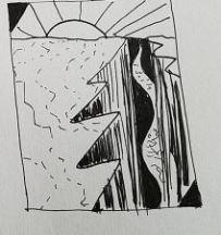 "Small doodle of prompt ""broken"""